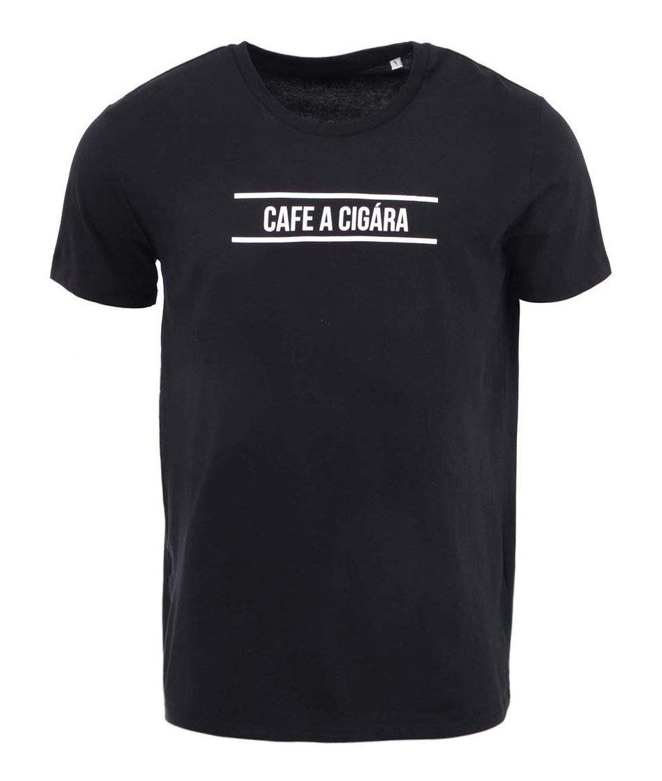 Černé pánské triko ZOOT Original Cafe a Cigára