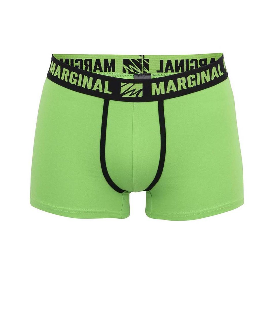 Zelené boxerky s obtiskem ruky Marginal