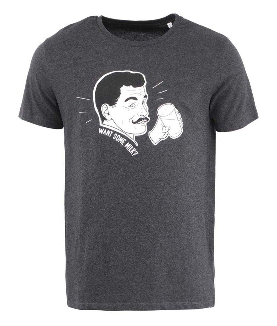 Tmavě šedé pánské triko ZOOT Originál Milky Man