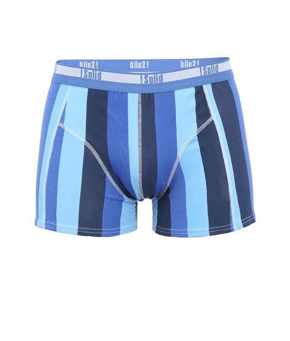 Modré boxerky se svislými pruhy !Solid Jaron