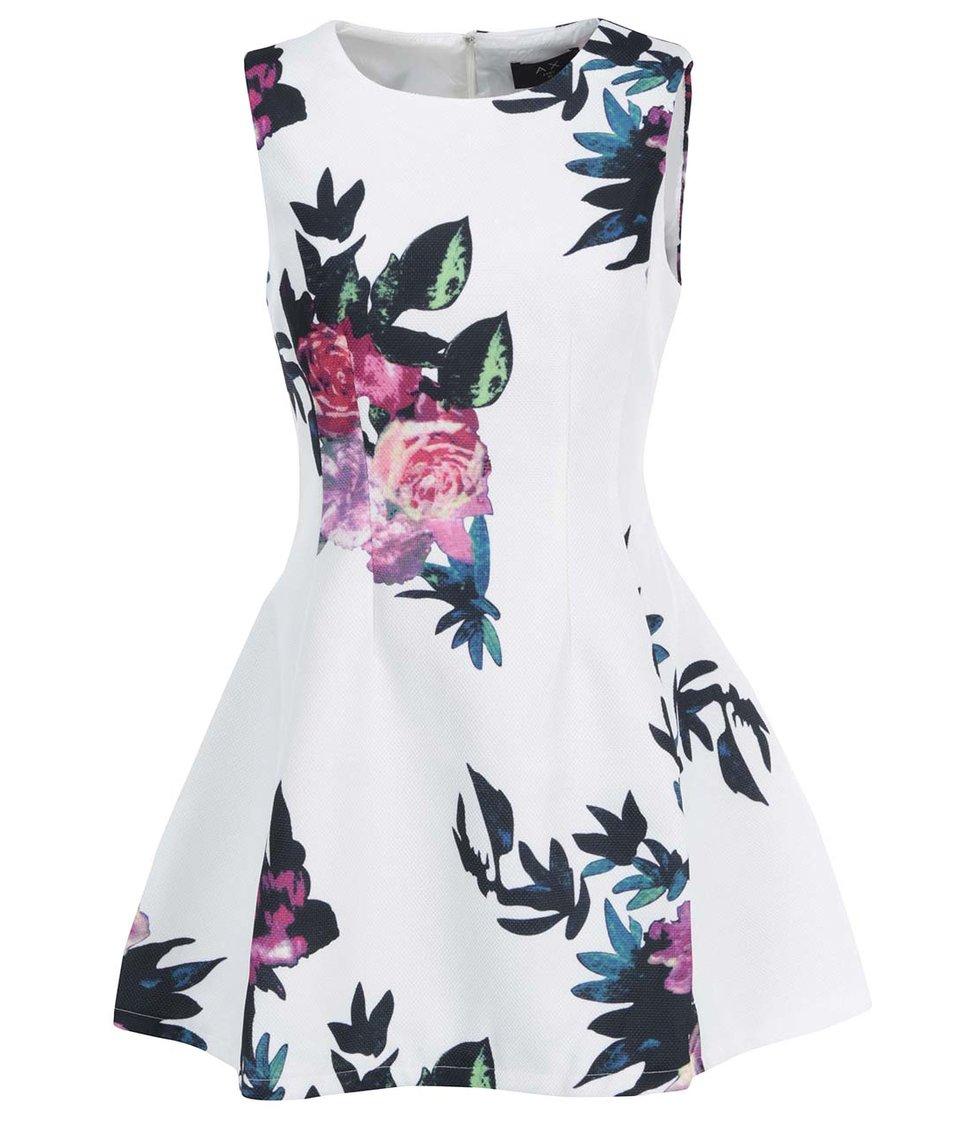 Bílé květované šaty AX Paris