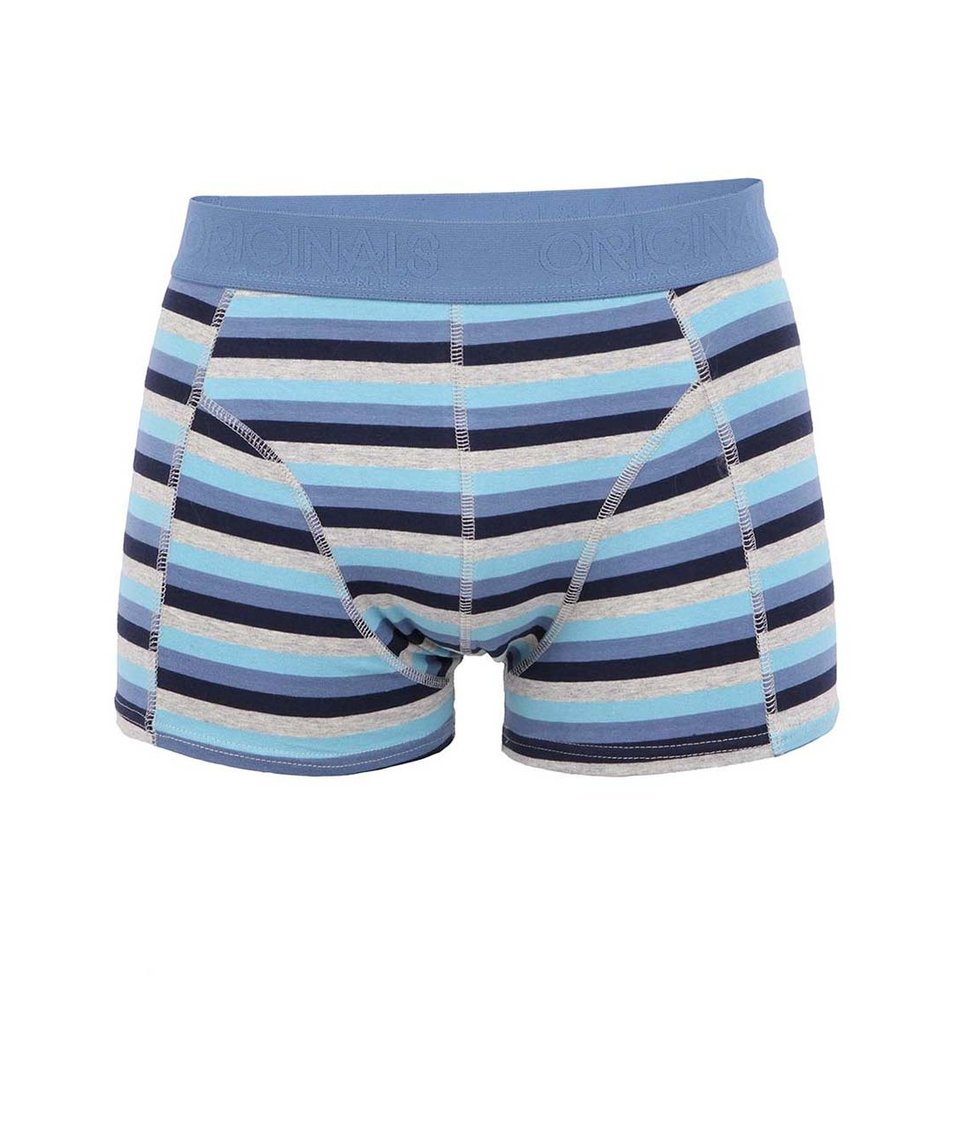 Modré pruhované boxerky Jack & Jones Ansley