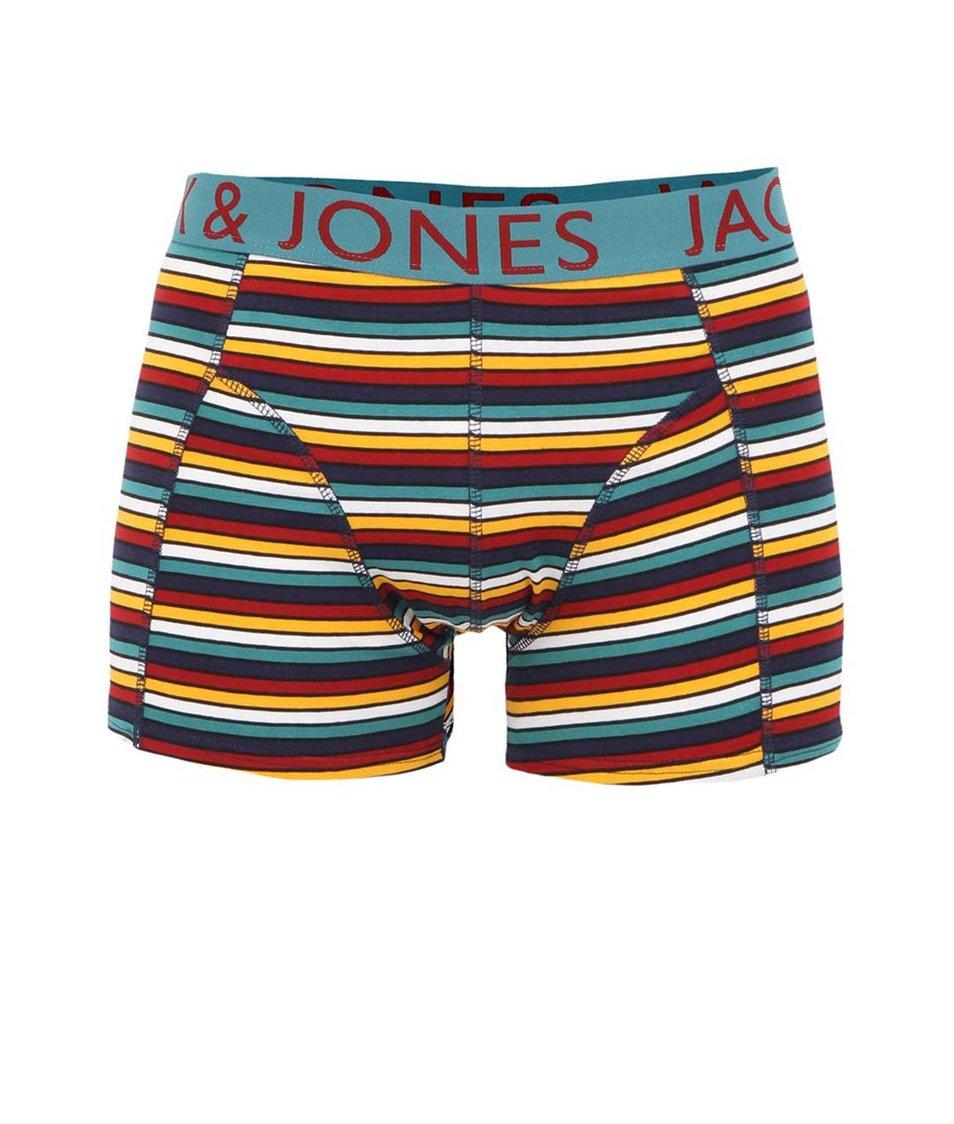 Barevné pruhované boxerky Jack & Jones Flynn