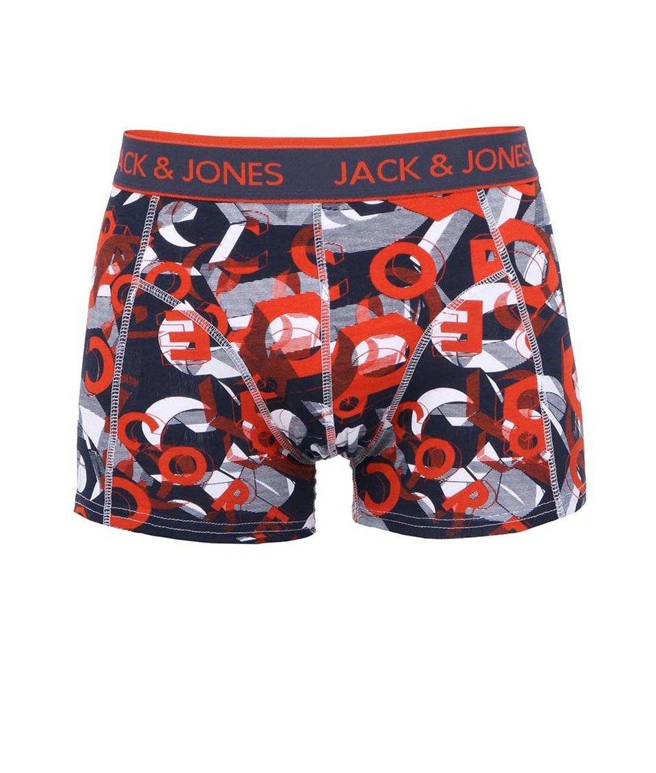 Modro-červené boxerky Jack & Jones Enok