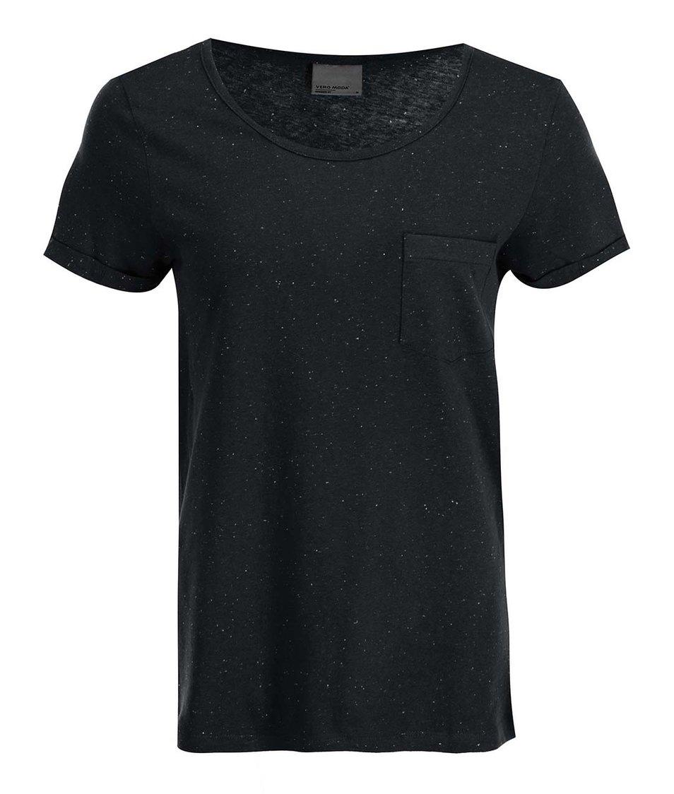 Černé tričko s kapsičkou Vero Moda Grace