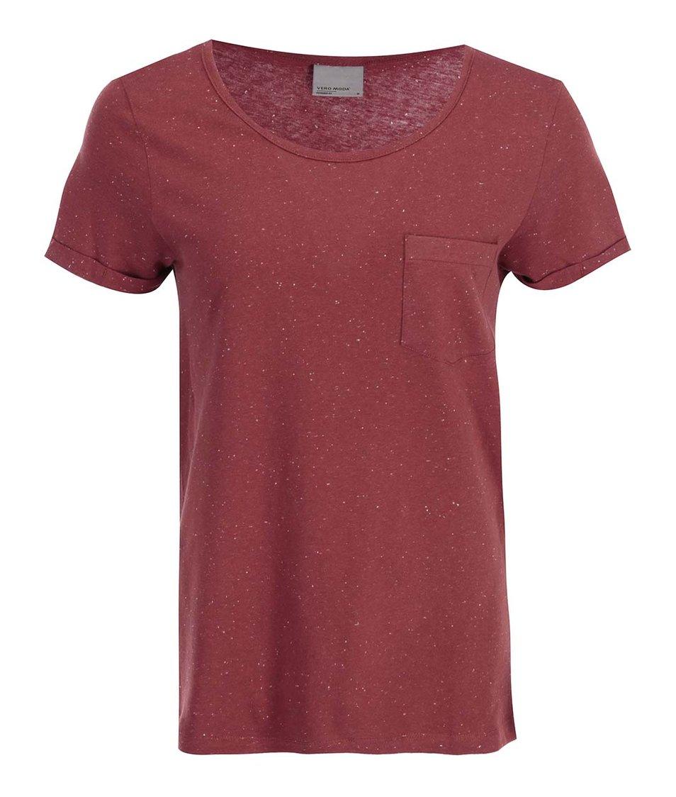 Červené tričko s kapsičkou Vero Moda Grace