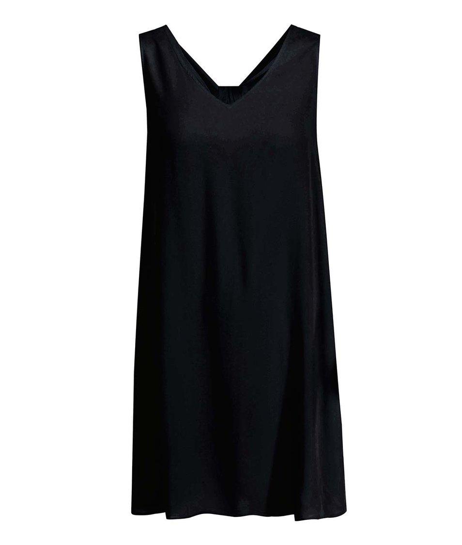 Černé volnější šaty Vero Moda Siri