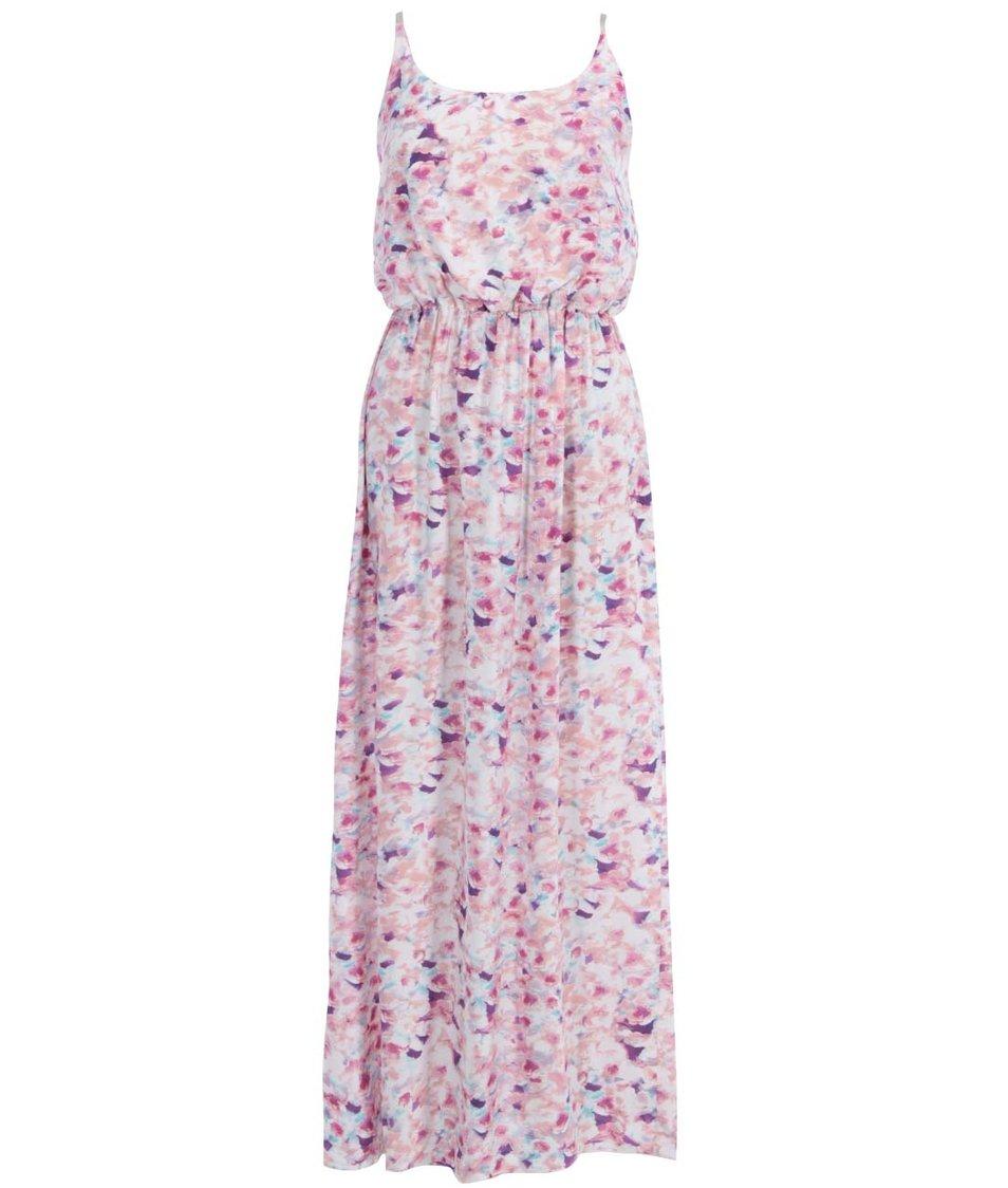 Růžové vzorované maxišaty Vero Moda Easy