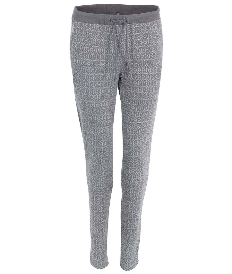 Světle šedé teplákové kalhoty Vero Moda Ellen