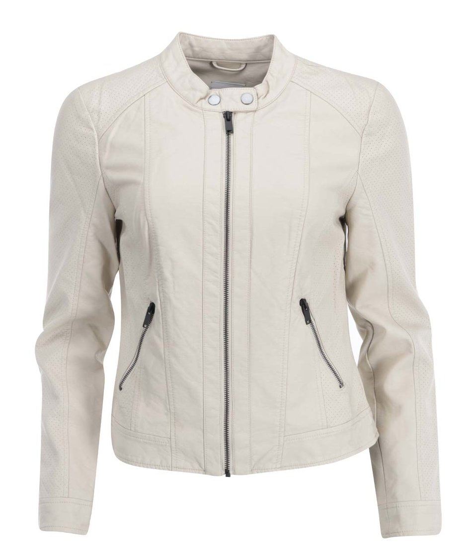 Béžová koženková bunda Vero Moda Babe
