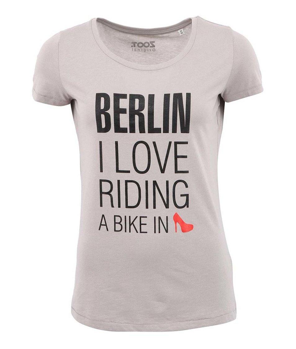 Šedé dámské triko ZOOT Originál Berlín