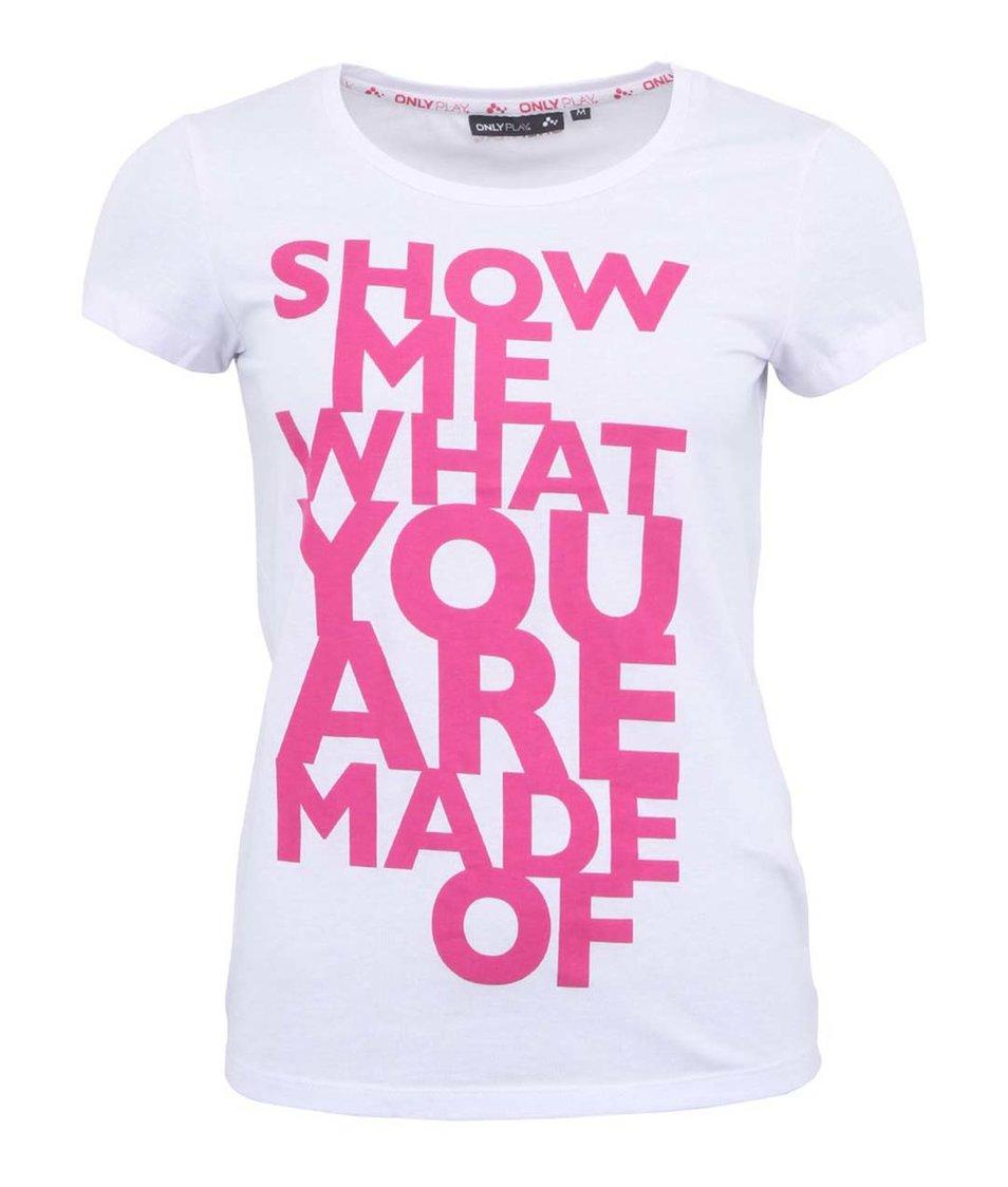 Bílé tričko s potiskem Only Play Alexis