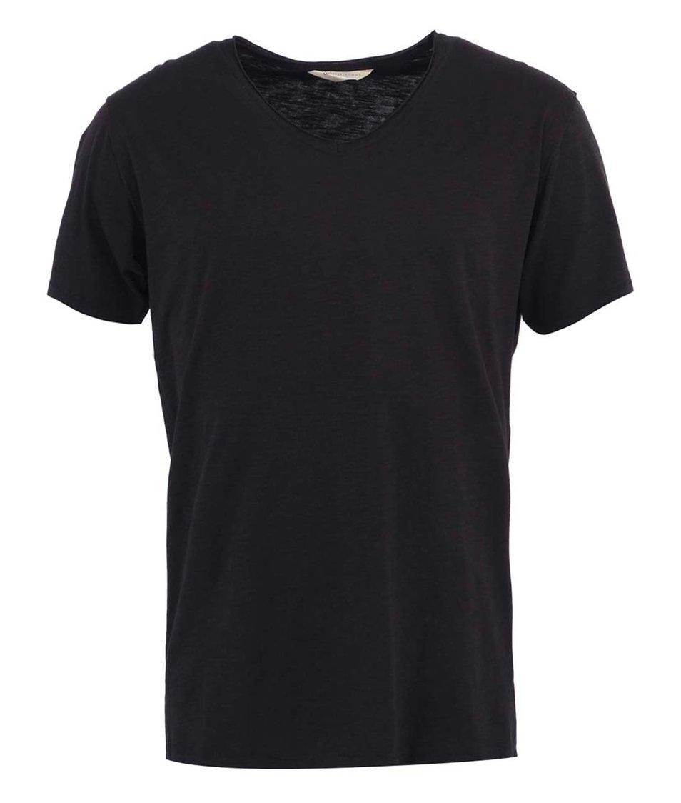 Černé pánské tričko Selected Even