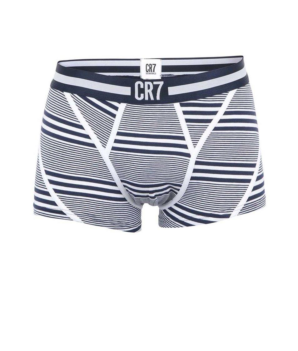 Modro-bílé pruhované boxerky CR7