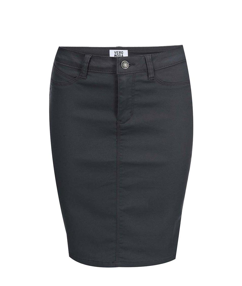 Šedá přiléhavá sukně Vero Moda Flex