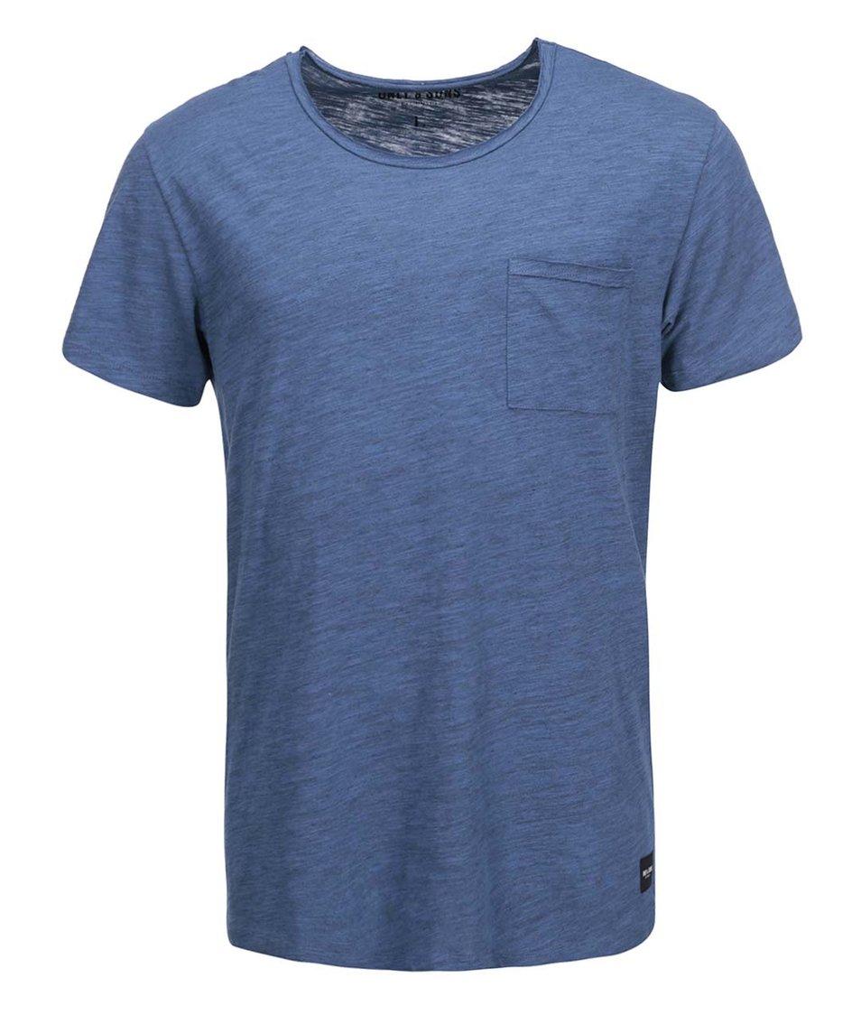 Tmavě modré triko s kapsou ONLY & SONS Thue