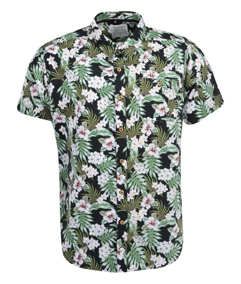 Zeleno-černá havajská košile s krátkými rukávy D-Struct Pettibon
