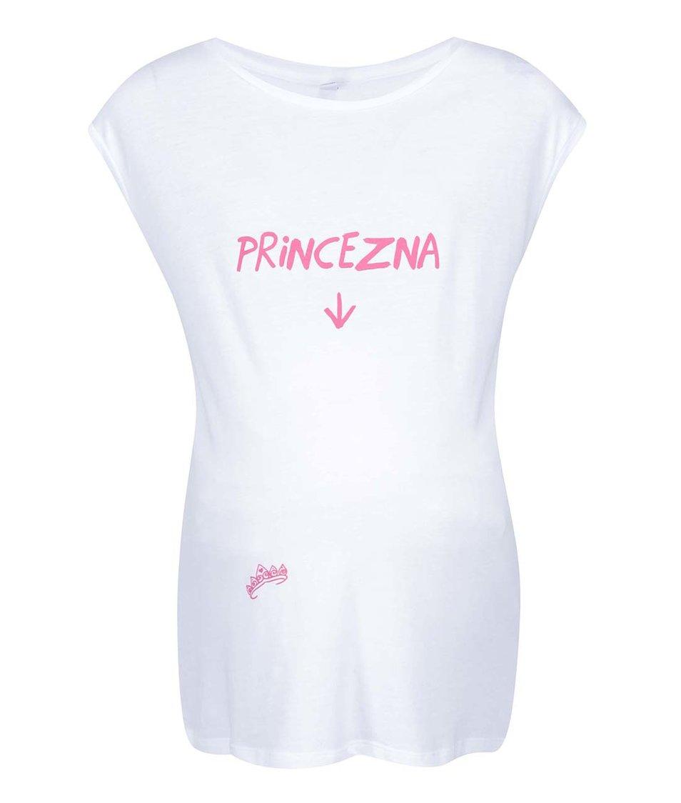 Bílé těhotenské tričko ZOOT Originál Princezna