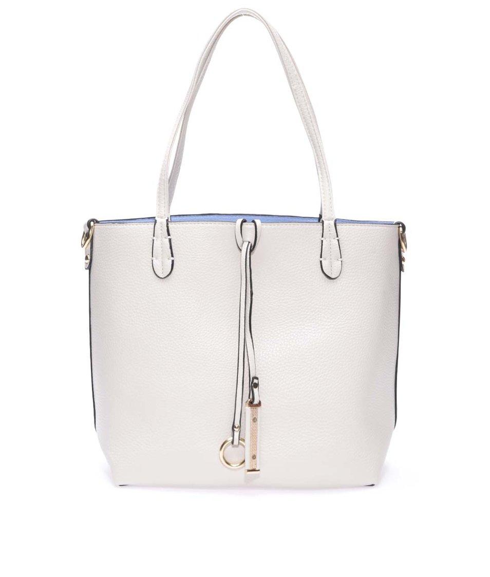 Modro-béžová oboustranná kabelka 2v1 Kris-Ana