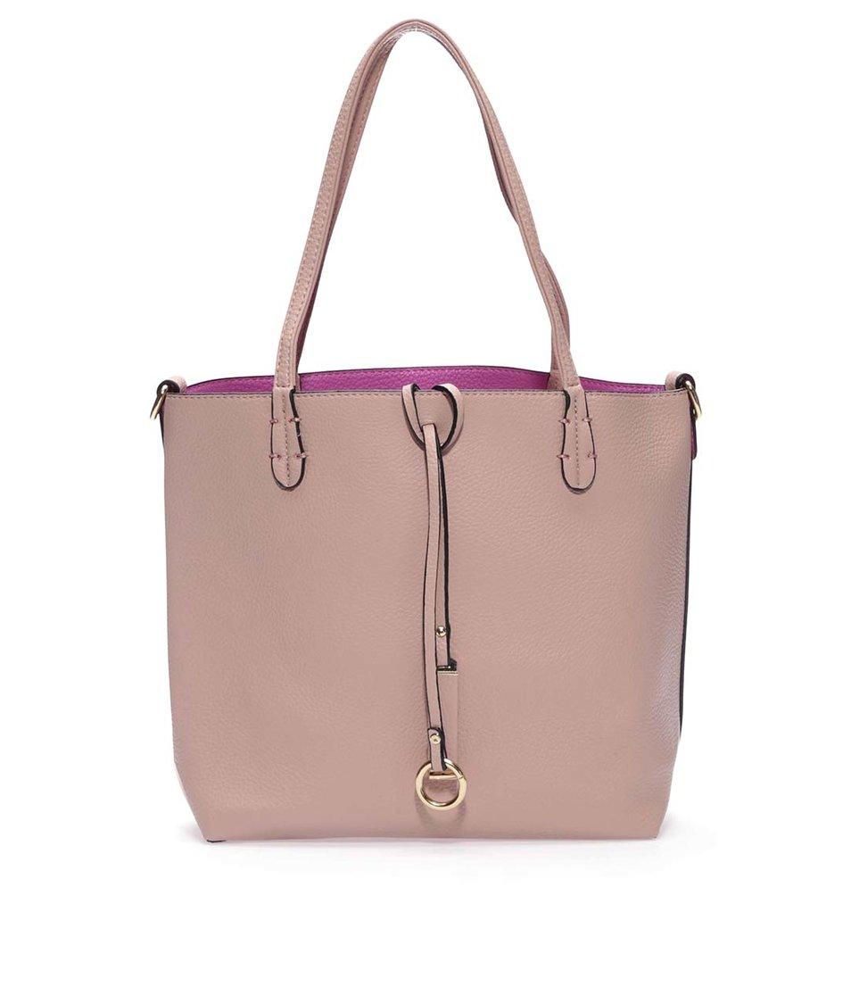 Fialovo-růžová oboustranná kabelka 2v1 Kris-Ana