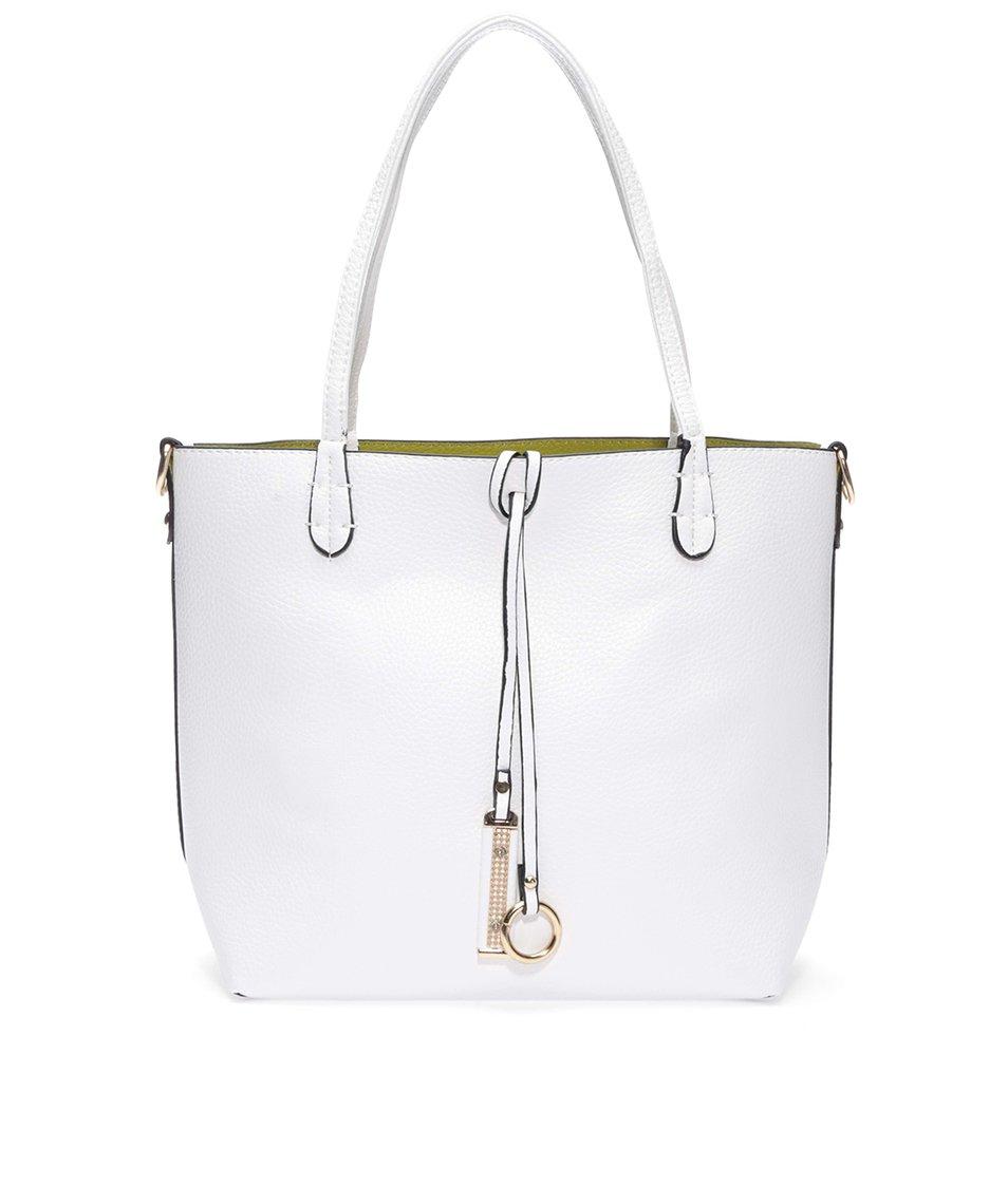 Zeleno-bílá oboustranná kabelka 2v1 Kris-Ana