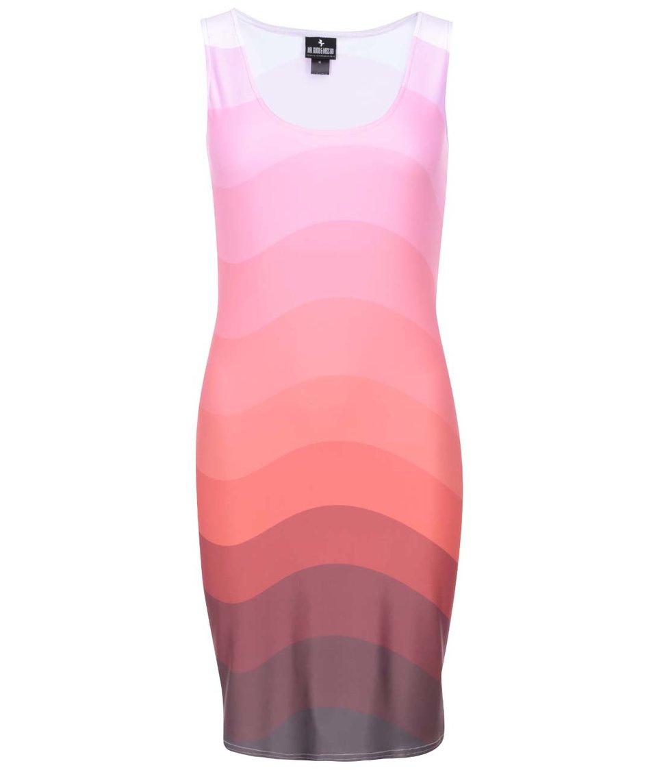 Růžové vzorované šatyMr. Gugu & Miss Go Pink Hues Wavy