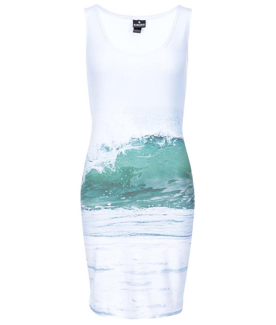 Světle modré šaty s potiskem Mr. Gugu & Miss Go Ocean