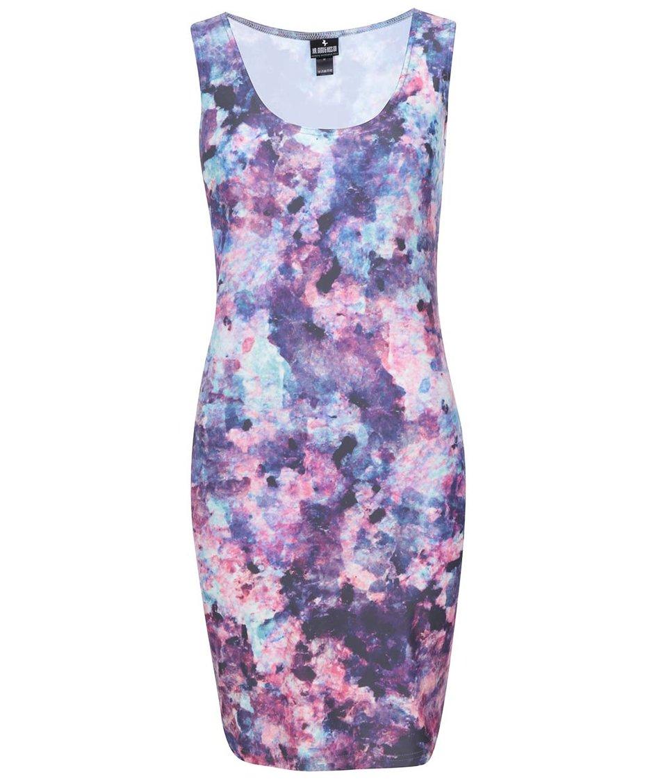 Růžovo-fialové vzorované šaty Mr. Gugu & Miss Go Granite Marble