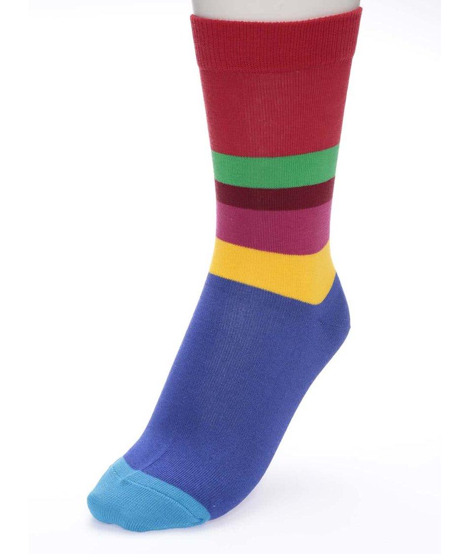 Barevné unisex ponožky s pruhy Ballonet Socks Carousel Up