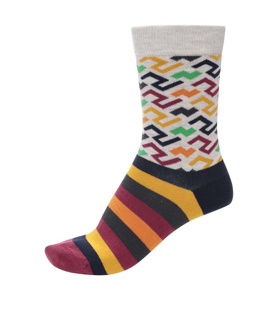 Barevné unisex ponožky se vzory Ballonet Socks Sand Two