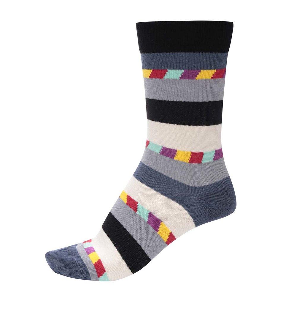 Barevné unisex ponožky s pruhy Ballonet Socks Candy Dark
