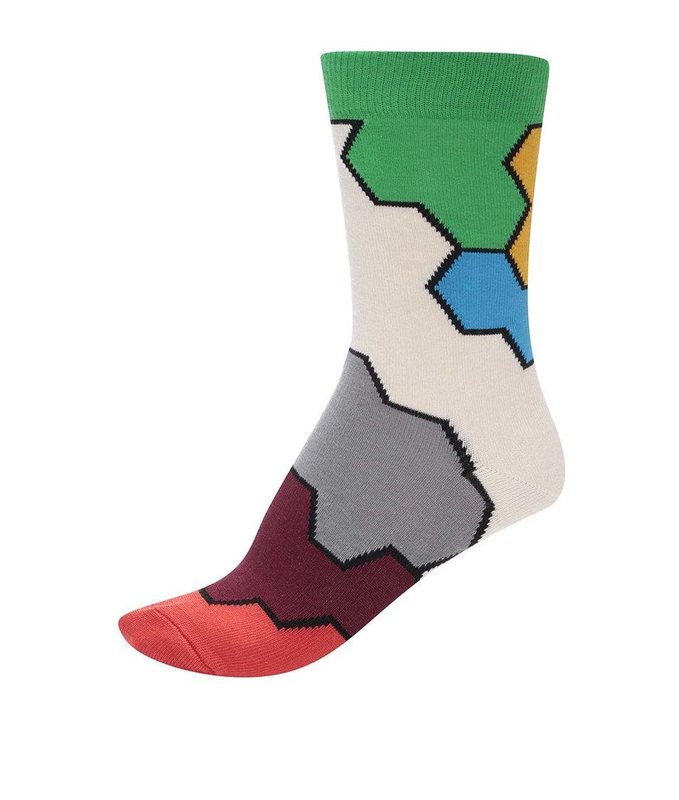 Barevné unisex vzorované ponožky Ballonet Socks Molecule