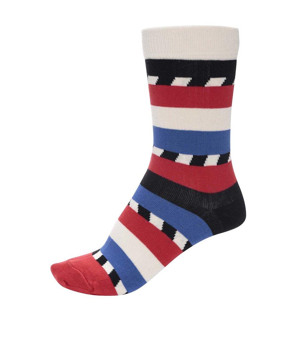 Barevné unisex ponožky s pruhy Ballonet Socks Candy