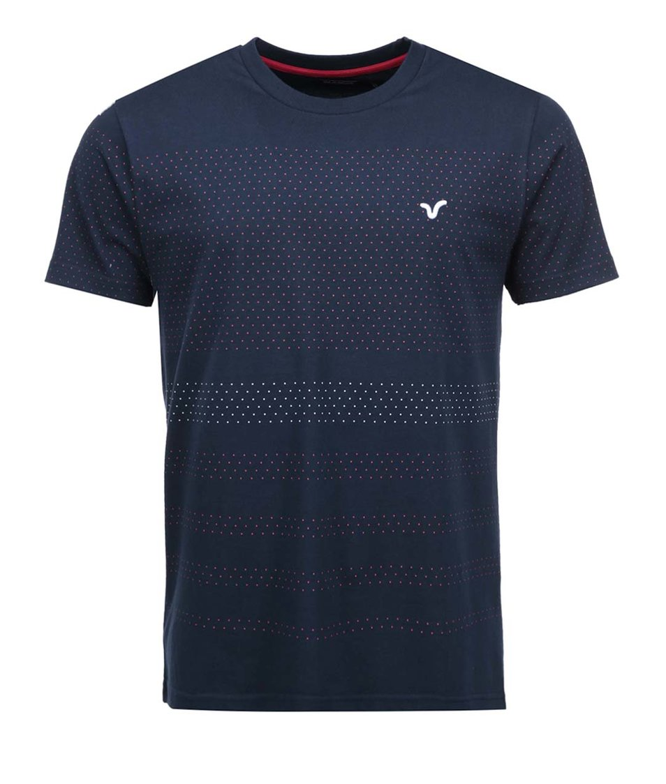 Tmavě modré pánské triko s tečkami Voi Jeans Jukes