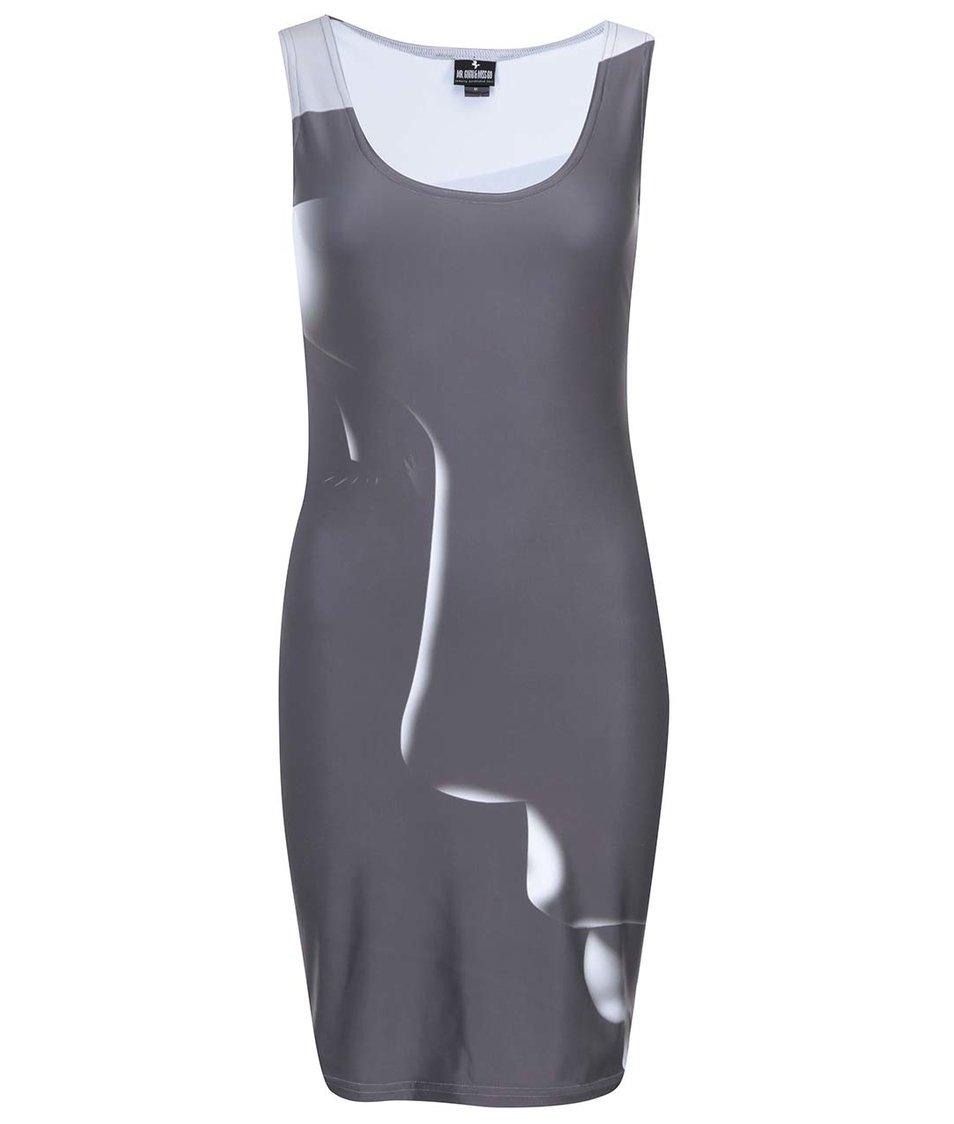Tmavě šedé šaty s potiskem Mr. Gugu & Miss Go Chaos