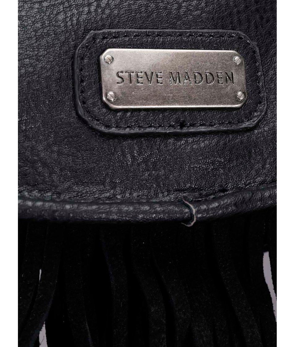 Černá crossbody kabelka s třásněmi Steve Madden Beast