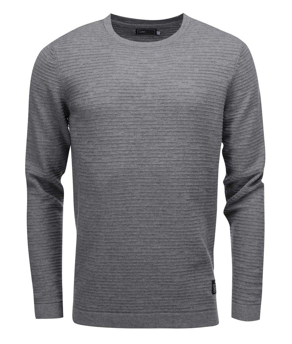 Šedý svetr s texturou Jack & Jones Rain
