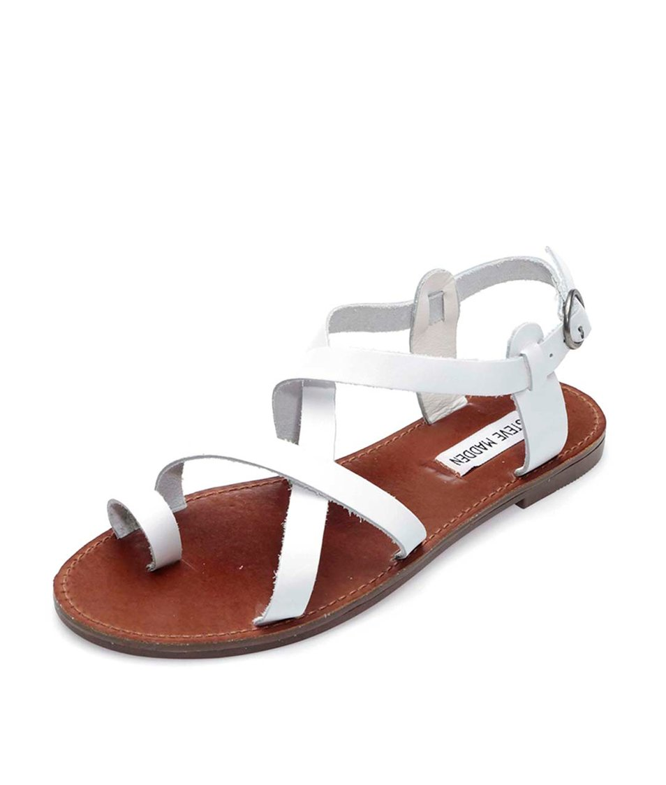 Bílé kožené sandály Steve Madden Agathist