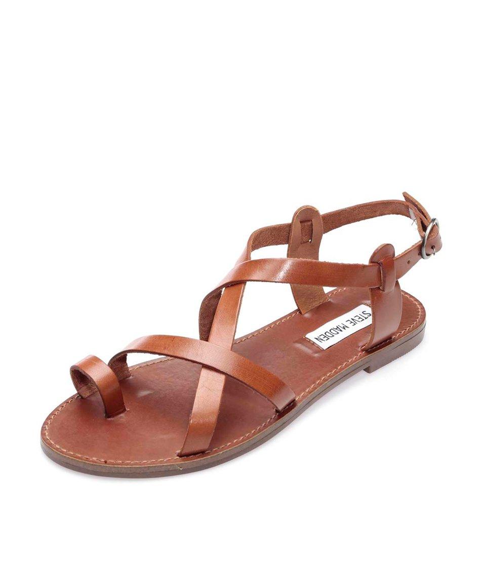 Hnědé kožené sandály Steve Madden Agathist