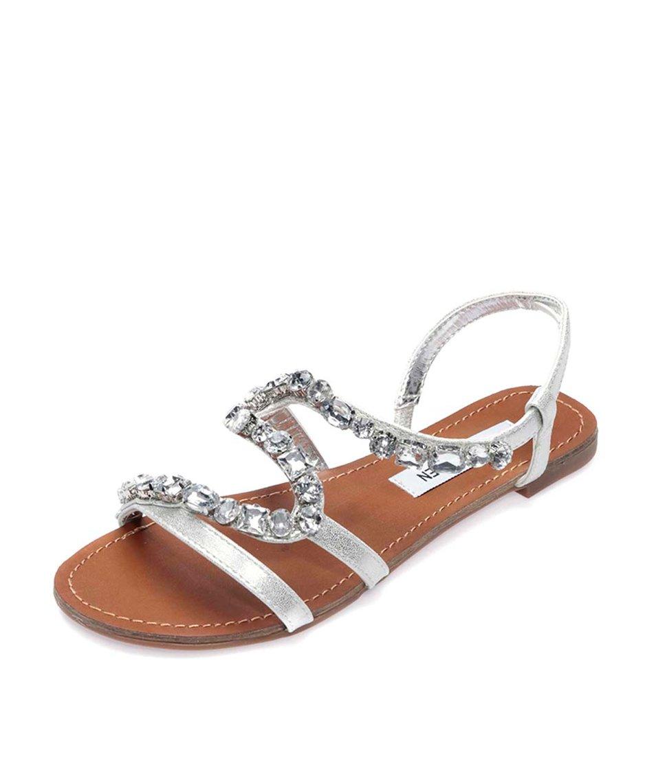 Zdobené sandálky ve stříbrné barvě Steve Madden Blazzed