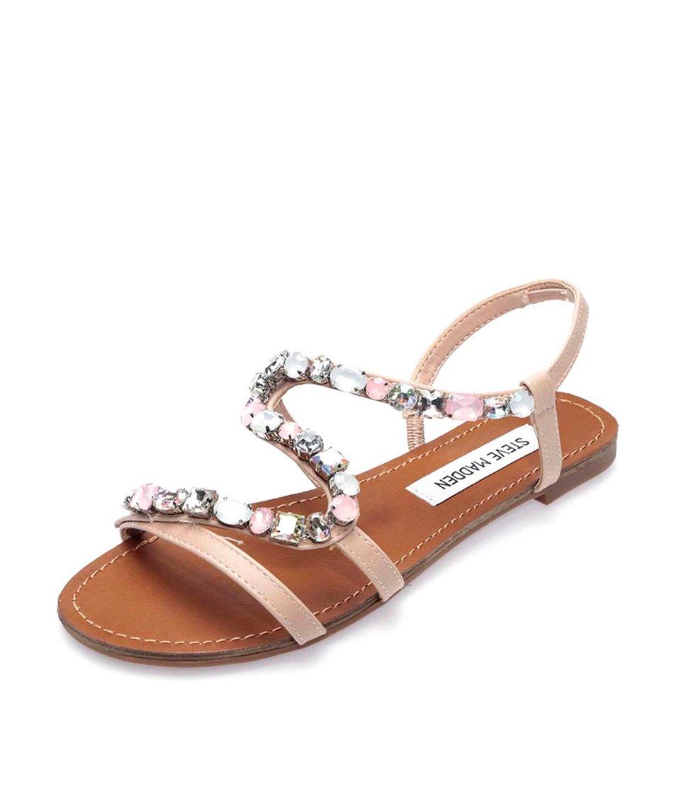 Béžové zdobené sandálky Steve Madden Blazzed
