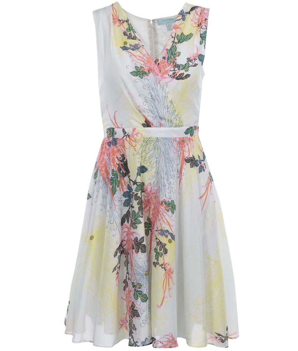 Bílé květované šaty Fever London Biscayne