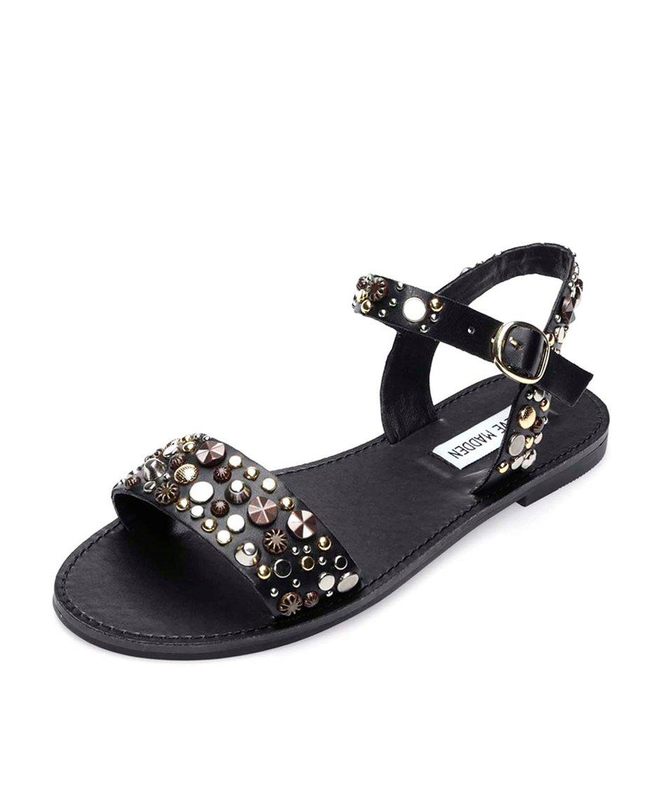 Černé sandály zdobené kamínky Steve Madden Donddi