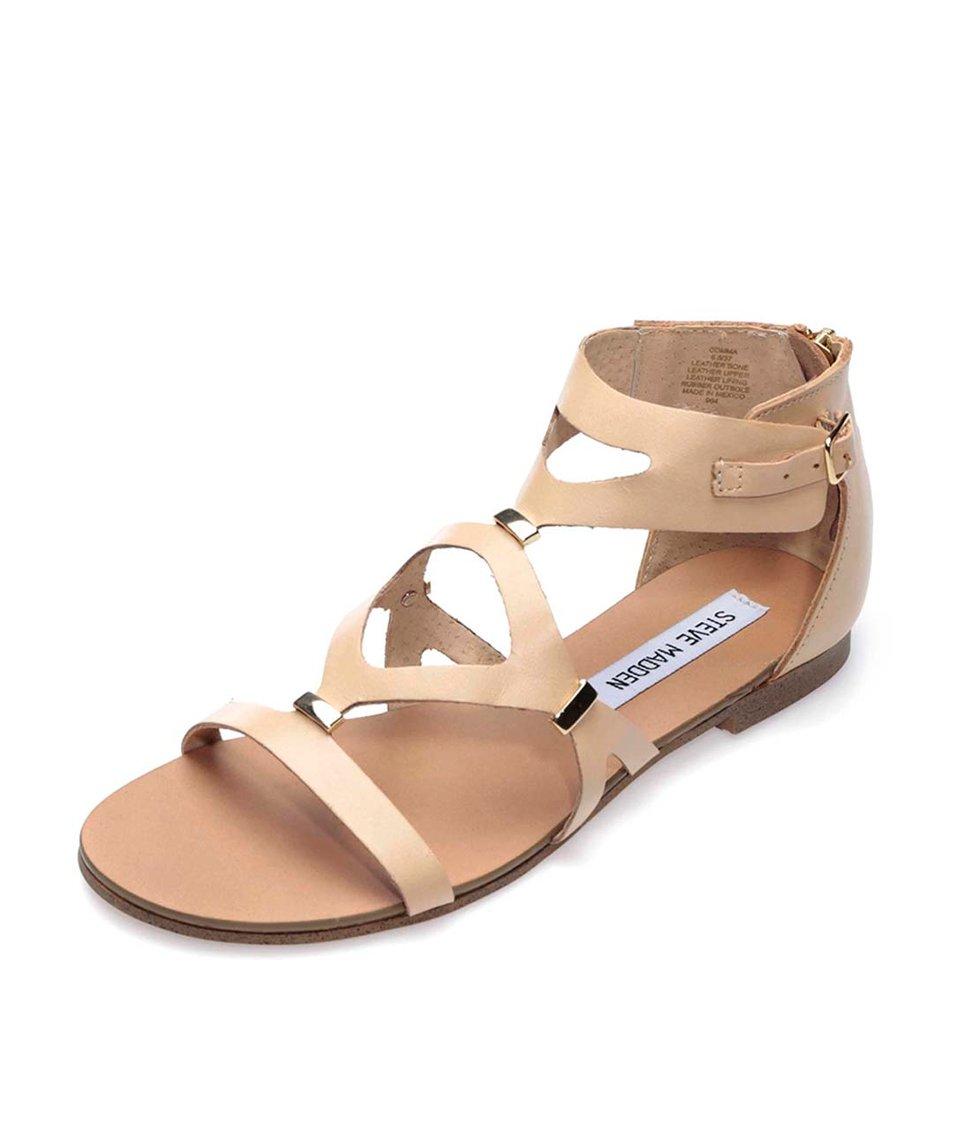 Béžové kožené sandály Steve Madden Comma