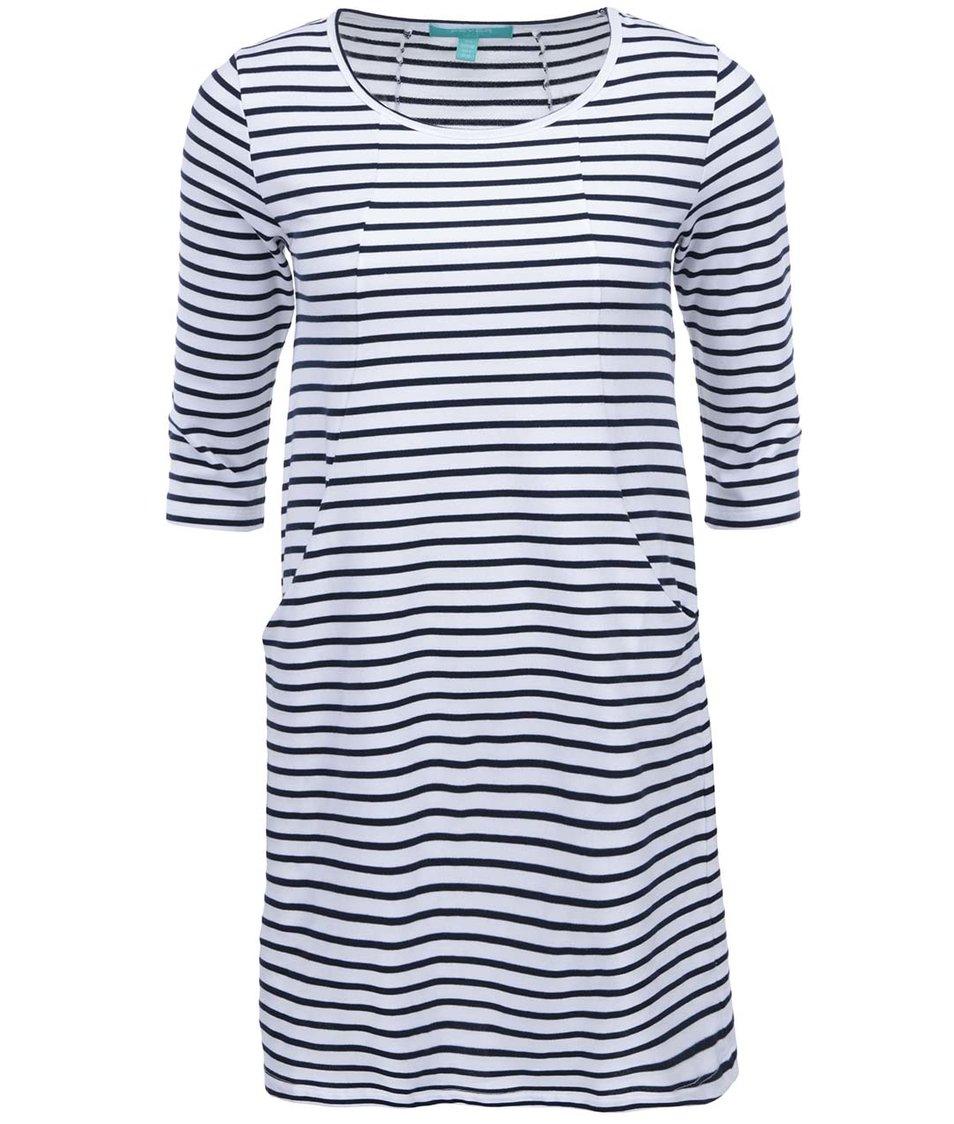 Modro-bílé pruhované šaty Fever London Brittany