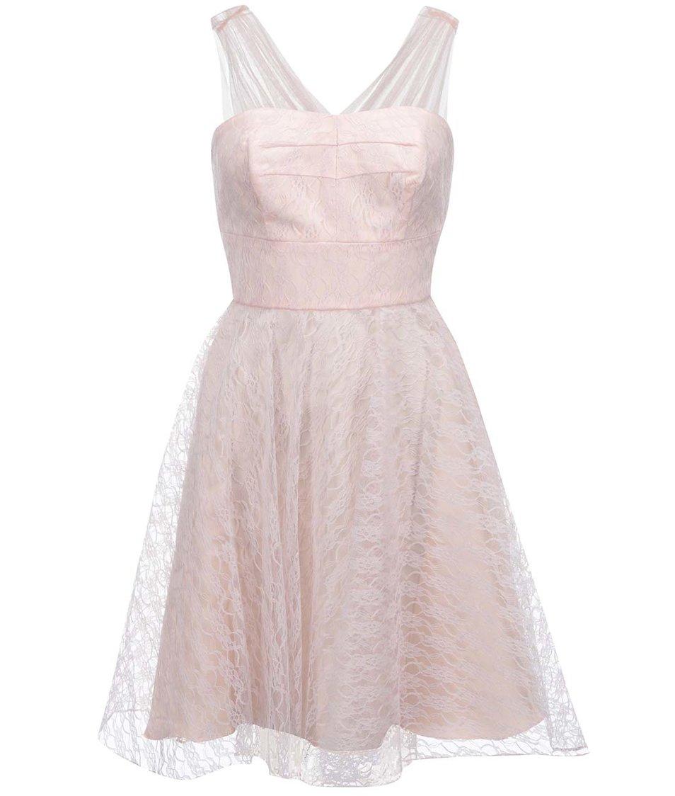 Růžové šaty Fever London Fonteyn
