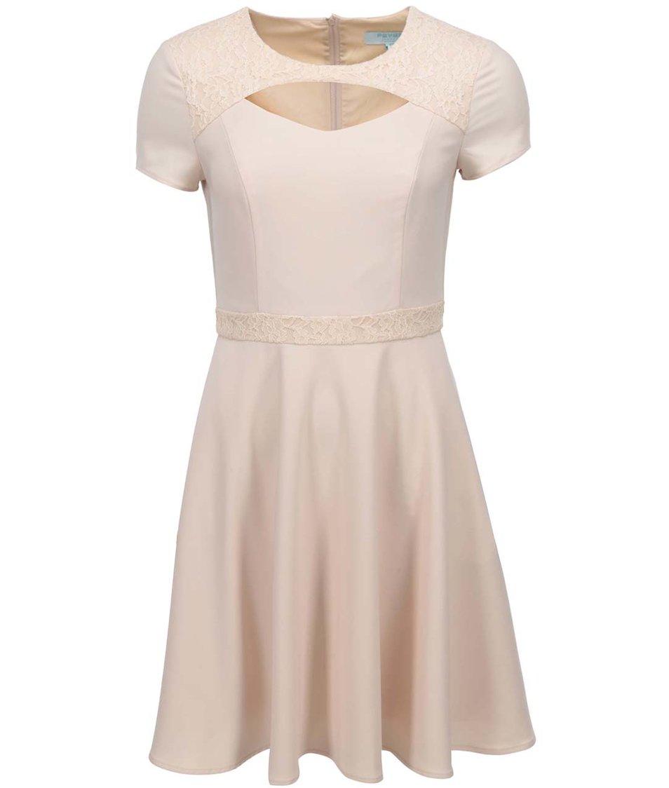 Tělové šaty s průstřihem Fever London Gabrielle
