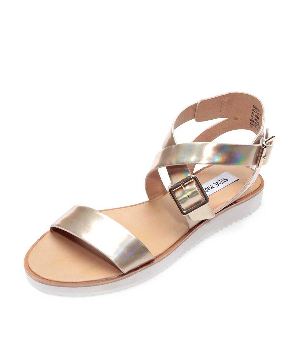 Sandály ve zlaté barvě Steve Madden Mellow