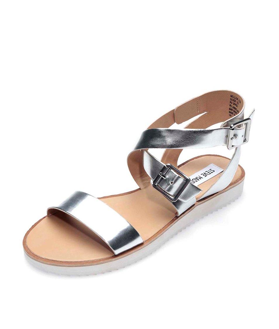 Sandály ve stříbrné barvě Steve Madden Mellow