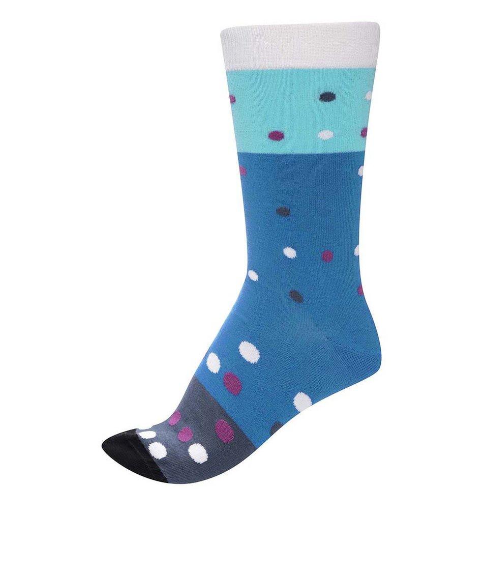 Modré unisex ponožky s barevnými puntíky Ballonet Socks Party Air